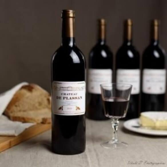 Vin Bordeaux rouge Château de Plassan - x3 75 cl