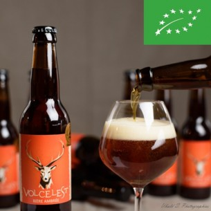 Bière ambrée Volcelest - Bouteille de 33cl