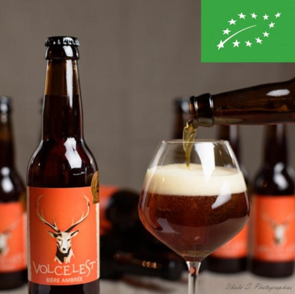 Bière ambrée Volcelest - bouteille de 33 cl