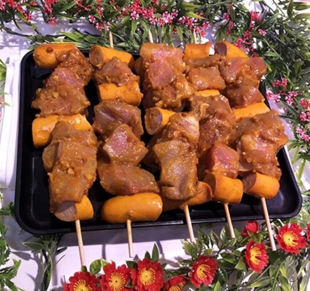 Porc - 4 Brochettes Caraïbe - filet mignon (environ 1 kg)
