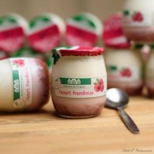 Yaourt - Framboise - 16 pots verre