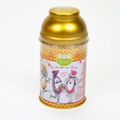 Boîte métal sucette Noël - Assortiment 12 sucettes aux fruits