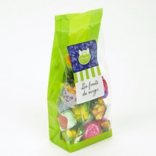 Bonbons fourrés fruits - Sachet de 100 gr