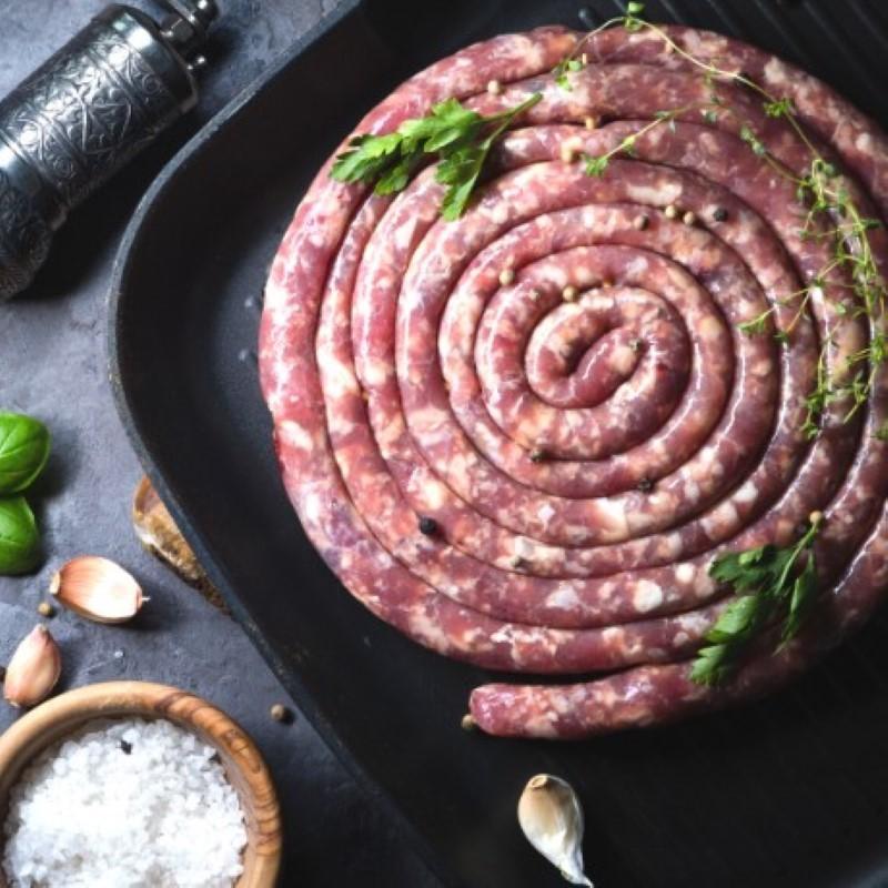 Porc - Saucisse au couteau - 1kg (environ)