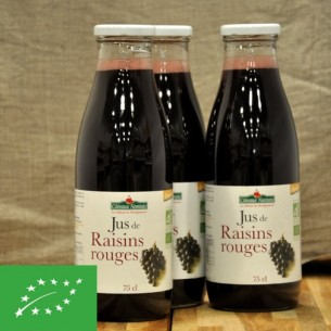 Jus de raisin rouge bio - 75cl