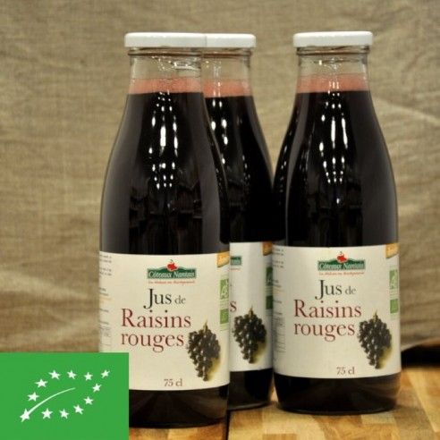 Jus de raisin rouge bio - 75cl