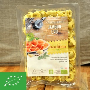 Pâtes fraiches BIO au jambon cru - 250g