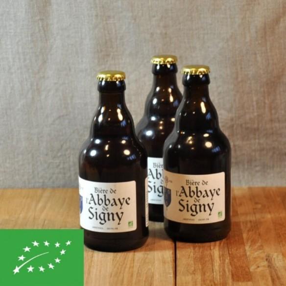 Bière blonde Bio de l'Abbaye de Signy - bouteille de 33 cl