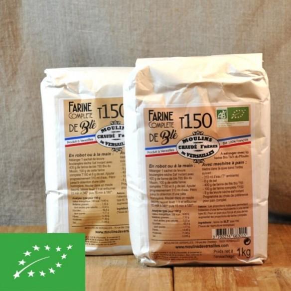 Farine Complète BIO blé T150 - 1 kg