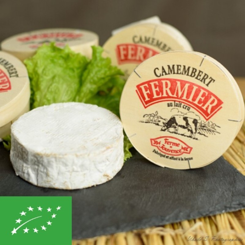Camembert au lait cru fermier BIO - pièce 270 gr (environ)