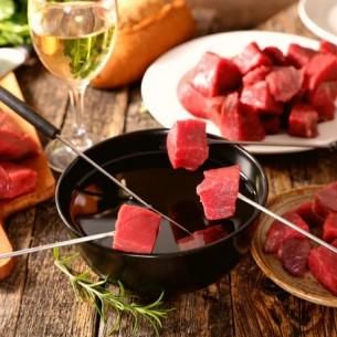 Bœuf Charolais - Viande à fondue - 1 kg (environ)